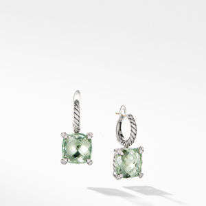 Chatelaine® Drop Earrings with Prasiolite and Diamonds