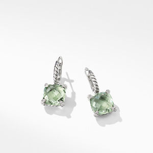 Chatelaine® Drop Earrings with Prasiolite and Diamonds alternative image