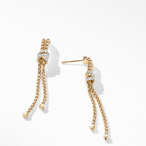 Helena Box Chain Earrings in 18K Yellow Gold with Diamonds alternative image