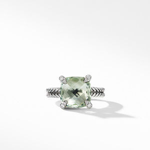 Chatelaine® Ring with Prasiolite and Diamonds alternative image