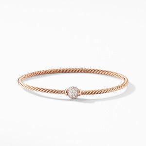 Solari Center Station Bracelet in 18K Rose Gold with Diamonds alternative image