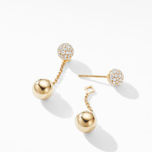 Solari Chain Drop Earring in 18K Yellow Gold with Diamonds alternative image