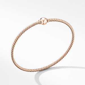 Solari Center Station Bracelet in 18K Rose Gold with Gold Dome