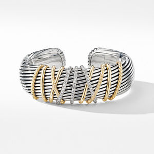 Helena Cuff Bracelet with 18K Yellow Gold and Diamonds alternative image
