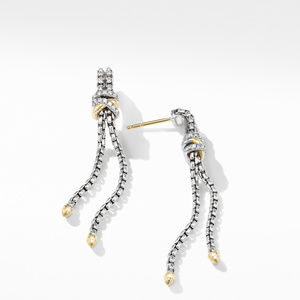 Helena Chain Drop Earrings with 18K Yellow Gold and Diamonds alternative image