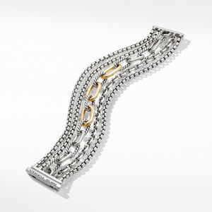 Multi-Row Chain Bracelet with 18K Yellow Gold alternative image