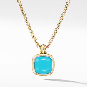 Albion® Pendant with Reconstituted Turquoise and 18K Yellow Gold