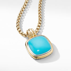 Albion® Pendant with Reconstituted Turquoise and 18K Yellow Gold alternative image