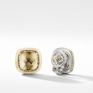 Albion® Stud Earrings with Champagne Citrine and 18K Yellow Gold alternative image