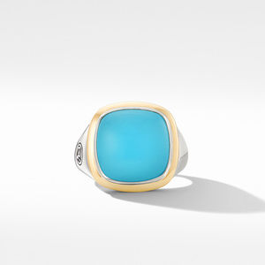 Albion® Ring with Reconstituted Turquoise and 18K Yellow Gold alternative image