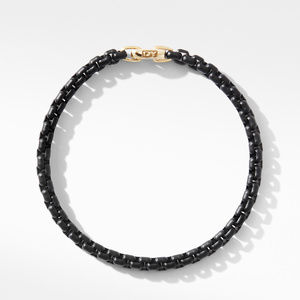 DY Bel Aire Chain Bracelet in Black with 14K Yellow Gold Accent alternative image