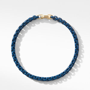 DY Bel Aire Chain Bracelet in Navy with 14K Yellow Gold Accent alternative image