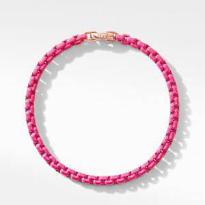 DY Bel Aire Chain Bracelet in Hot Pink with 14K Rose Gold Accent alternative image