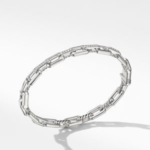 Stax Link Bracelet with Diamonds