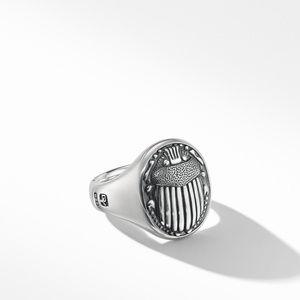 Petrvs® Scarab Signet Ring