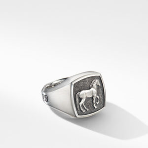 Petrvs® Horse Signet Ring