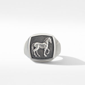 Petrvs® Horse Signet Ring alternative image