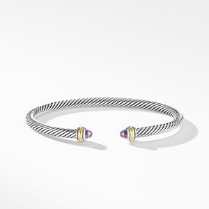 Cable Classic Bracelet with Amethyst and 18K Yellow Gold alternative image