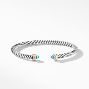Cable Classic Bracelet with Blue Topaz and 18K Yellow Gold alternative image