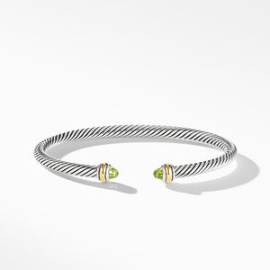 Cable Classic Bracelet with Peridot and 18K Yellow Gold alternative image
