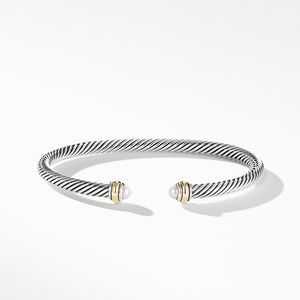 Cable Classic Bracelet with Pearl and 18K Yellow Gold alternative image