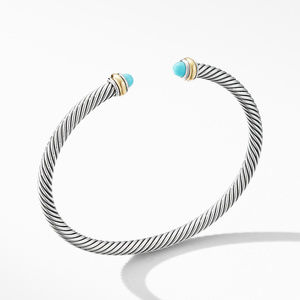 Cable Classic Bracelet with Turquoise and 18K Yellow Gold