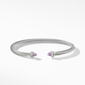 Cable Classic Bracelet with Amethyst and Diamonds alternative image