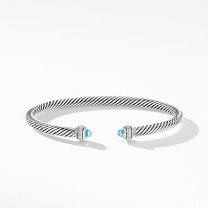Cable Classic Bracelet with Blue Topaz and Diamonds alternative image