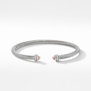 Cable Classic Bracelet with Morganite and Diamonds alternative image