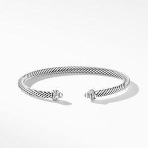 Cable Classic Bracelet with Prasiolite and Diamonds alternative image