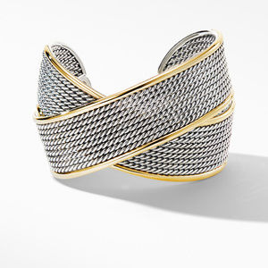 DY Origami Large Crossover Cuff Bracelet with 18K Yellow Gold alternative image