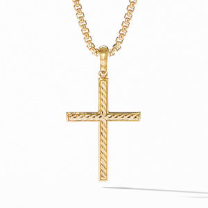 Modern Renaissance Cross Pendant in 18K Yellow Gold with Diamonds alternative image