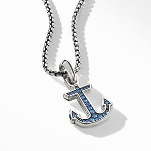 Maritime® Anchor Amulet with Sapphires alternative image