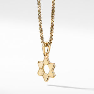 Deco Star of David Amulet in 18K Yellow Gold alternative image