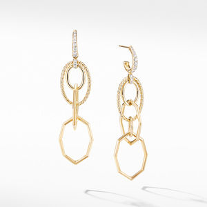 Stax Mobile Drop Earrings in 18K Yellow Gold with Diamonds
