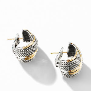 DY Origami Crossover Shrimp Earrings with 18K Yellow Gold alternative image
