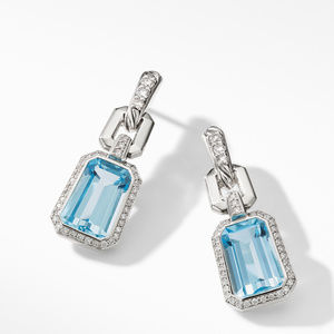 Stax Drop Earrings with Blue Topaz and Diamonds alternative image