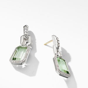 Stax Drop Earrings with Prasiolite and Diamonds alternative image