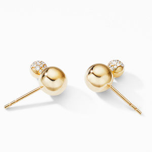 Solari Stud Earrings in 18K Yellow Gold with Diamonds alternative image
