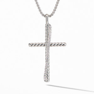 Crossover XL Cross Necklace with Diamonds
