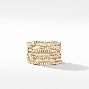 Stax Full Pavé Ring in 18K Yellow Gold alternative image
