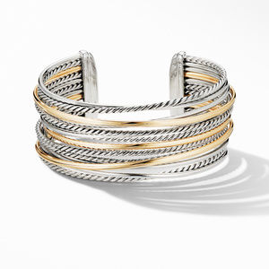 Crossover Wide Cuff Bracelet with 18K Yellow Gold alternative image