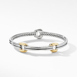 Thoroughbred® Double Link Bracelet with 18K Yellow Gold alternative image