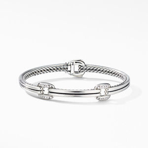 Thoroughbred® Double Link Bracelet with Diamonds alternative image