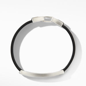 Deco Black Leather ID Bracelet alternative image