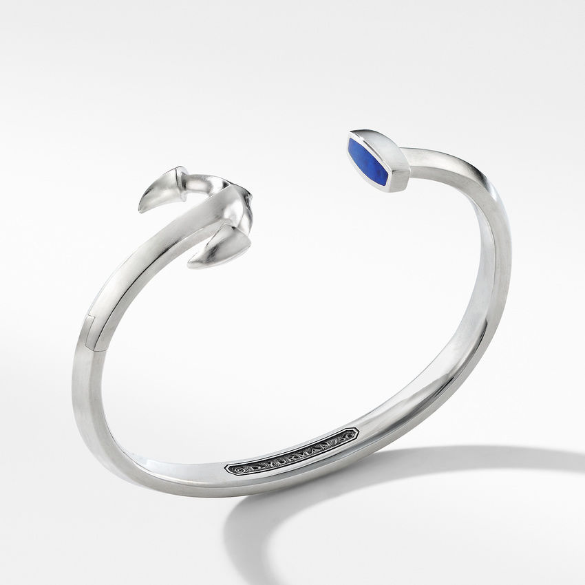 Maritime® Anchor Cuff Bracelet with Lapis