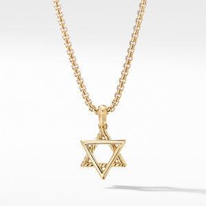 Modern Renaissance Star of David Pendant in 18K Yellow Gold with Diamonds alternative image