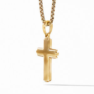 Deco Cross Pendant in 18K Yellow Gold alternative image