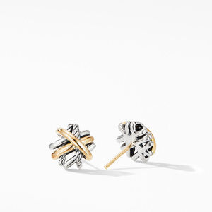 Crossover Stud Earrings with 18K Yellow Gold alternative image