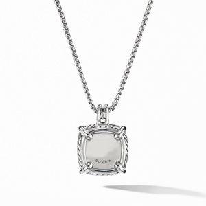 Chatelaine® Pavé Bezel Pendant Necklace with Black Orchid alternative image